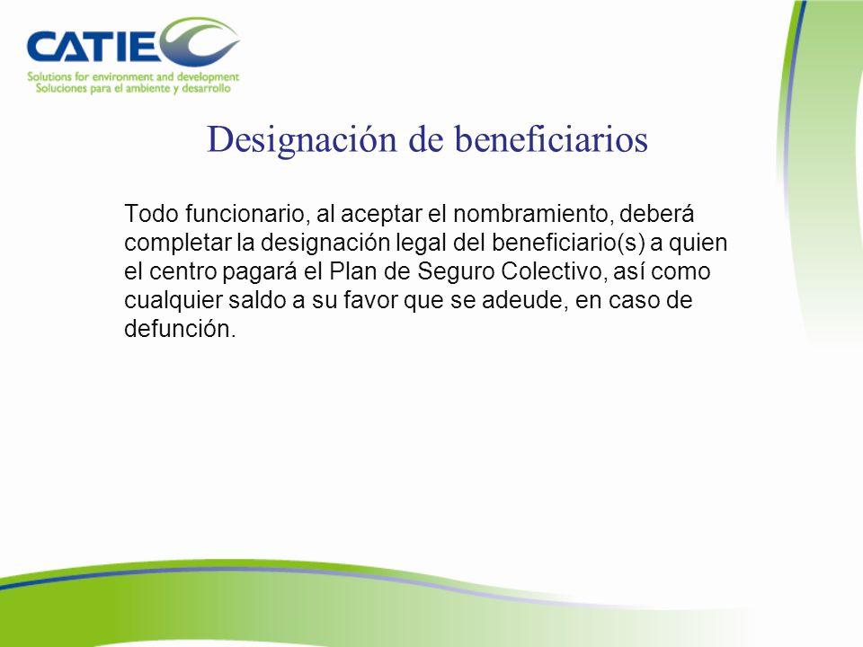 Designación de beneficiarios
