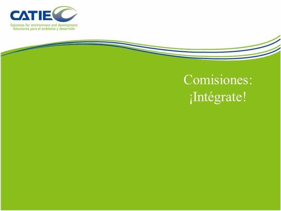 Comisiones: ¡Intégrate!