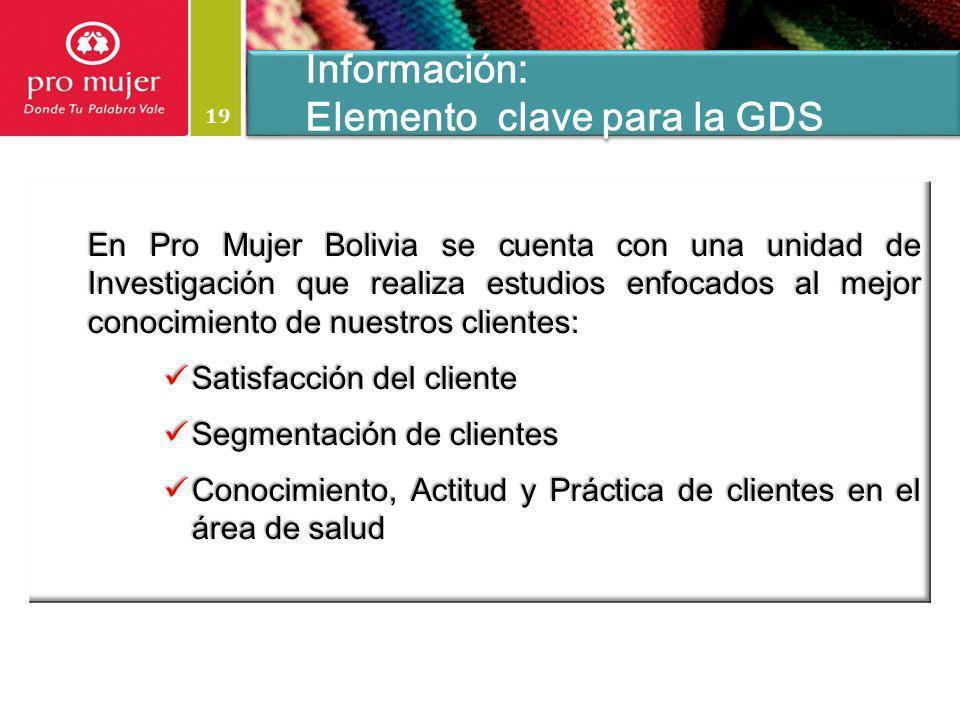 Elemento clave para la GDS