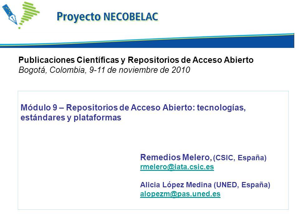 Publicaciones Científicas y Repositorios de Acceso Abierto