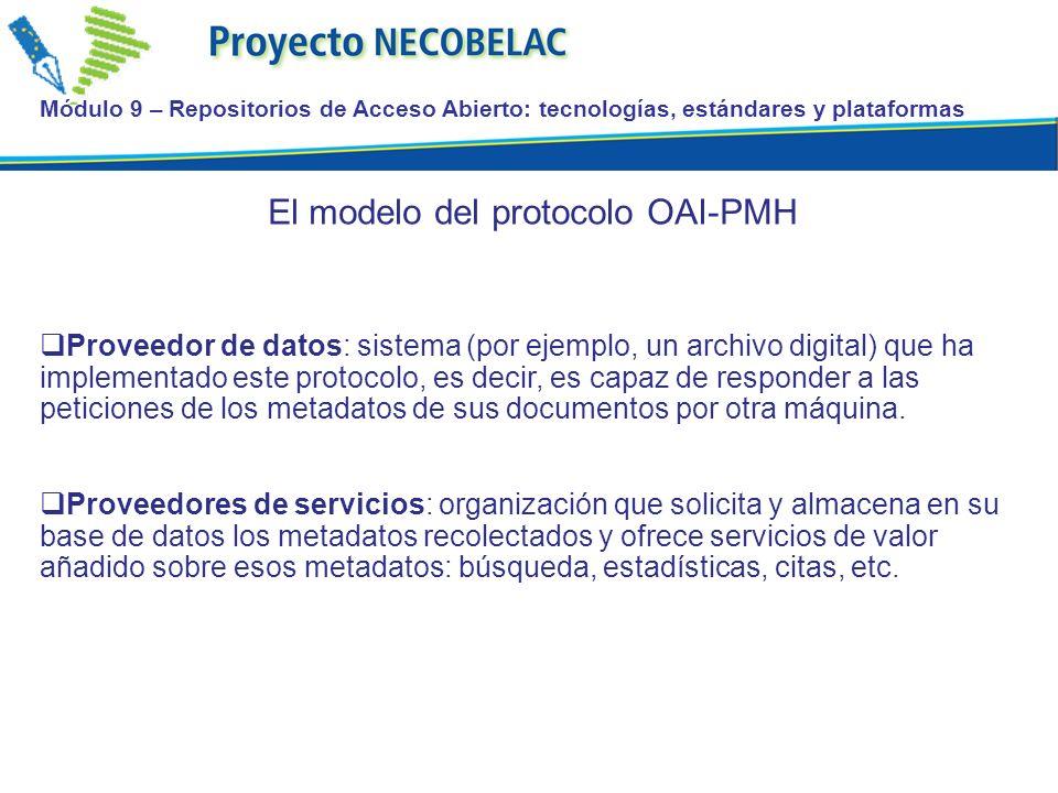 El modelo del protocolo OAI-PMH