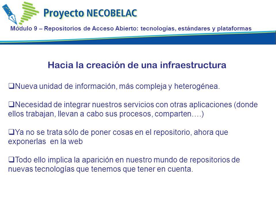 Hacia la creación de una infraestructura