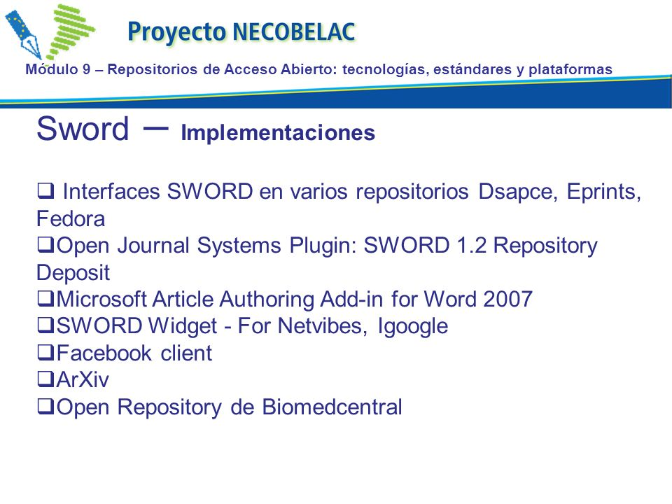 Sword – Implementaciones