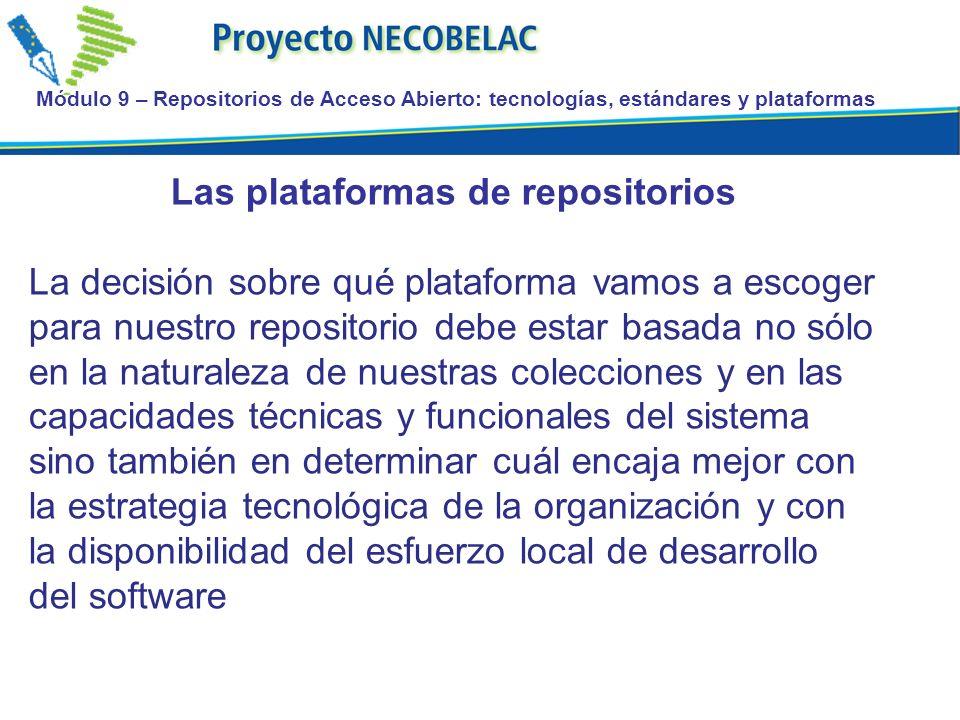 Las plataformas de repositorios