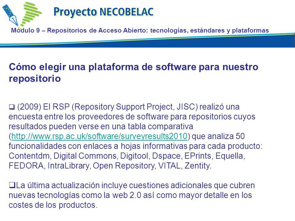 Cómo elegir una plataforma de software para nuestro repositorio