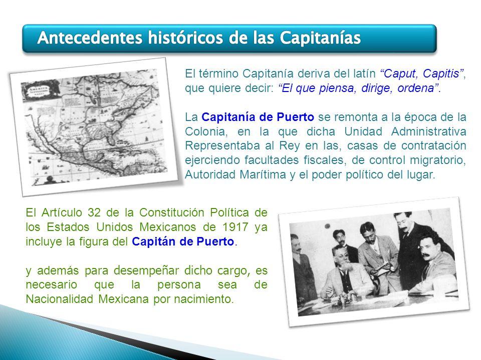 Antecedentes históricos de las Capitanías