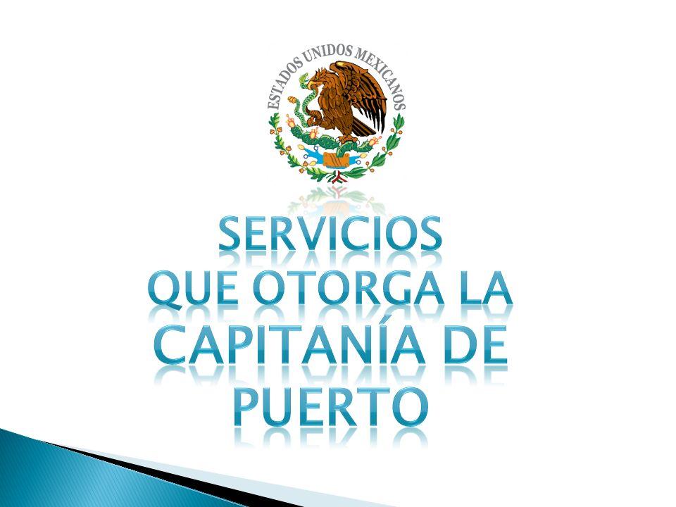 SERVICIOS QUE OTORGA la Capitanía de Puerto