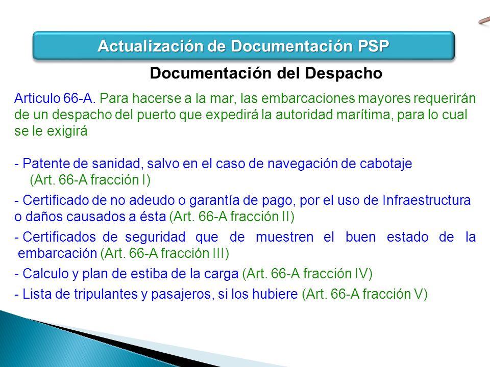 Actualización de Documentación PSP