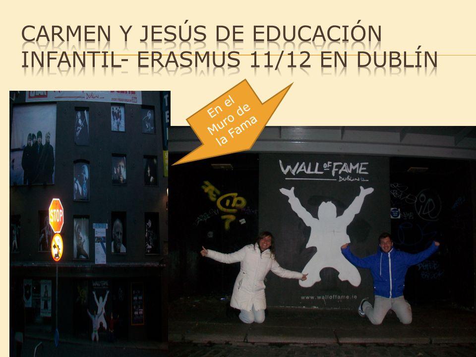 Carmen y jesús de Educación infantil- erasmus 11/12 en dublín
