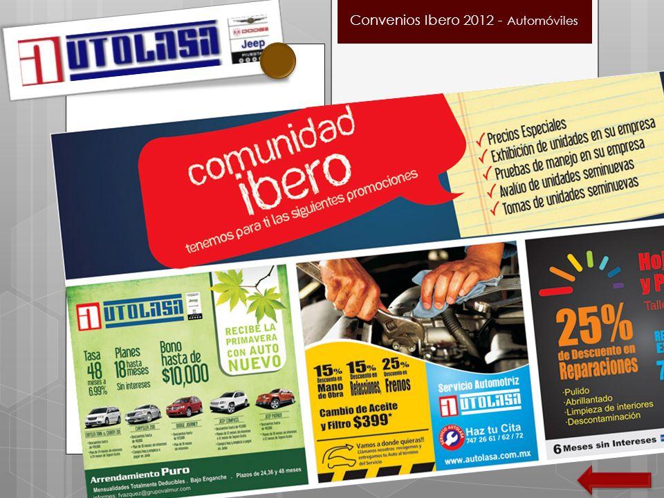 Convenios Ibero 2012 - Automóviles