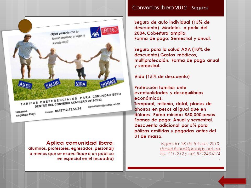 Convenios Ibero 2012 - Seguros