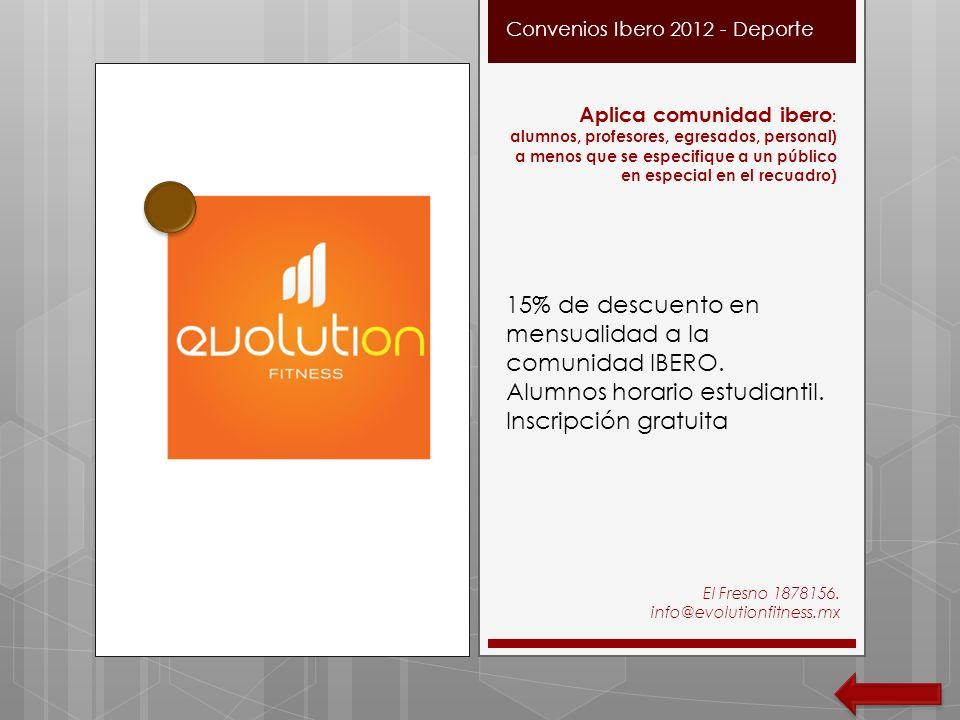 Convenios Ibero 2012 - Deporte