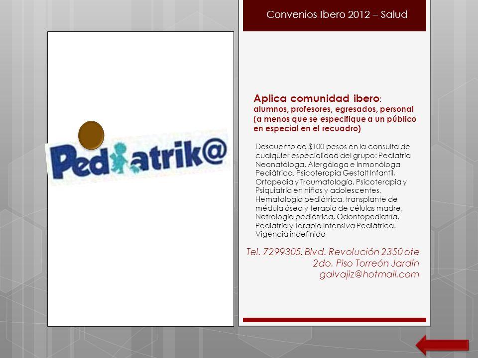 Convenios Ibero 2012 – Salud