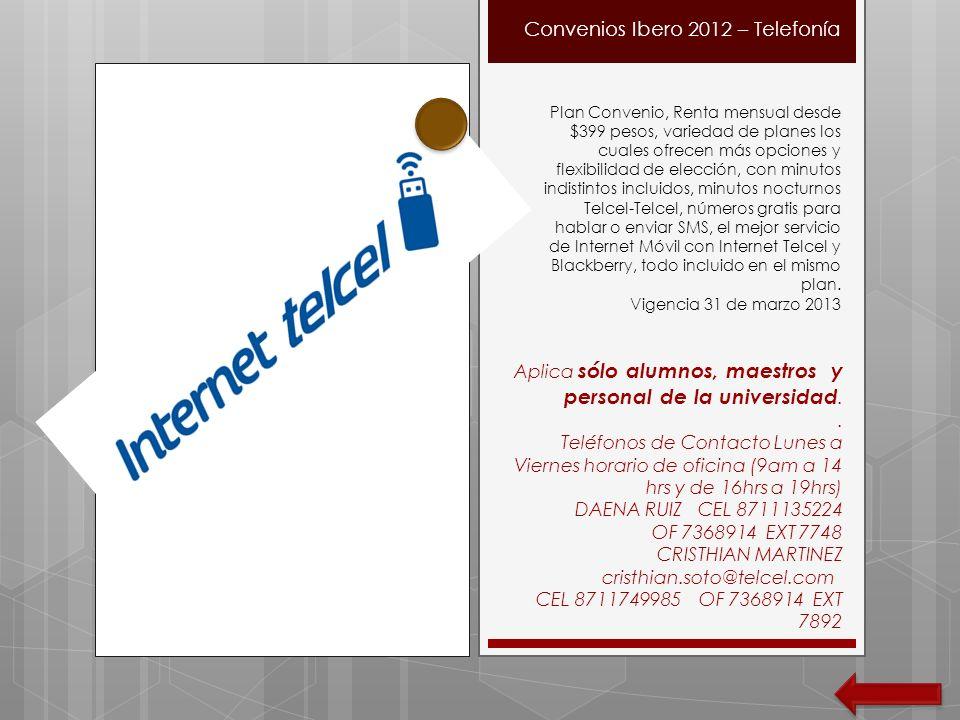 Convenios Ibero 2012 – Telefonía