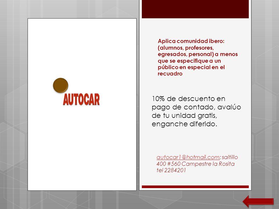 Aplica comunidad ibero: (alumnos, profesores, egresados, personal) a menos que se especifique a un público en especial en el recuadro