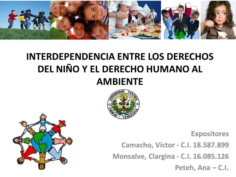 INTERDEPENDENCIA ENTRE LOS DERECHOS DEL NIÑO Y EL DERECHO HUMANO AL AMBIENTE