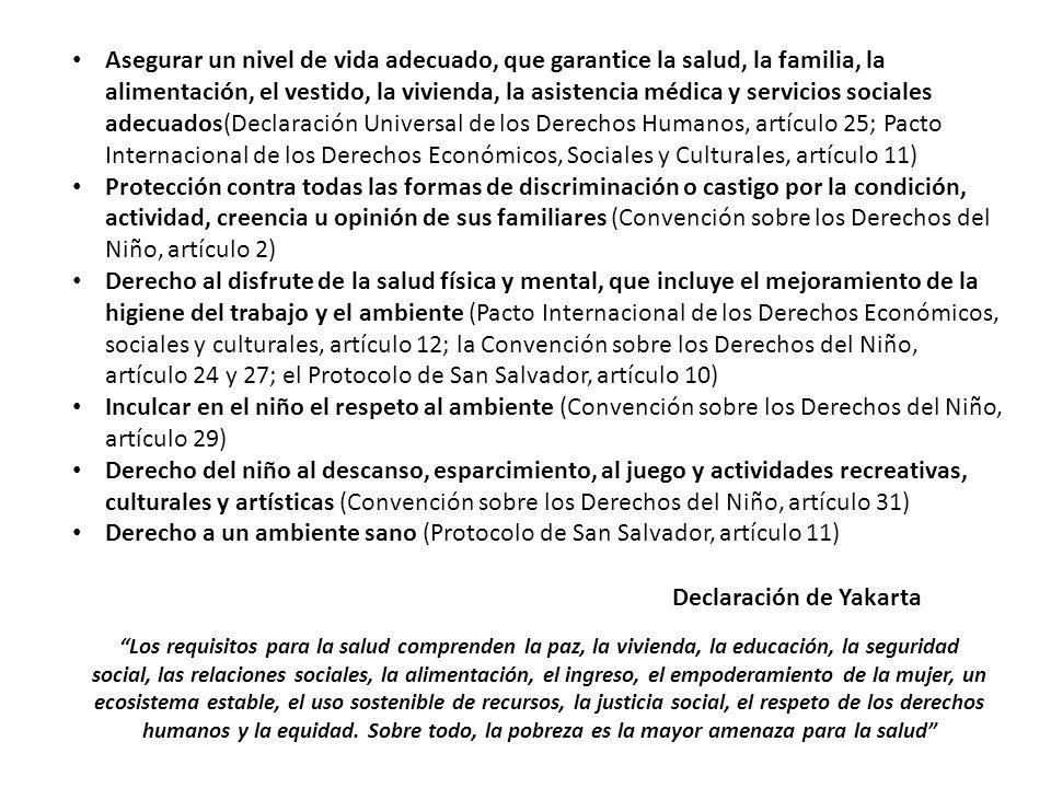 Derecho a un ambiente sano (Protocolo de San Salvador, artículo 11)