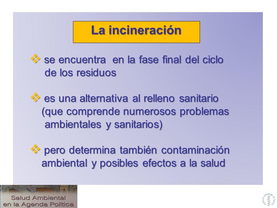 La incineración se encuentra en la fase final del ciclo
