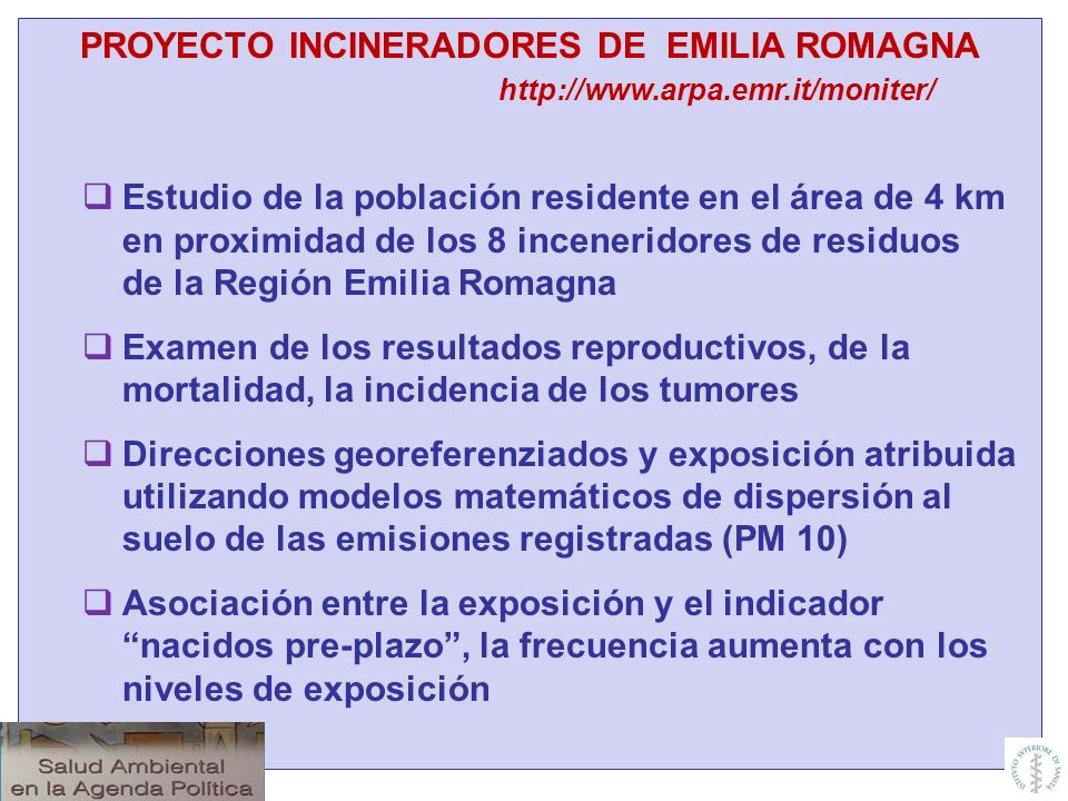 PROYECTO INCINERADORES DE EMILIA ROMAGNA