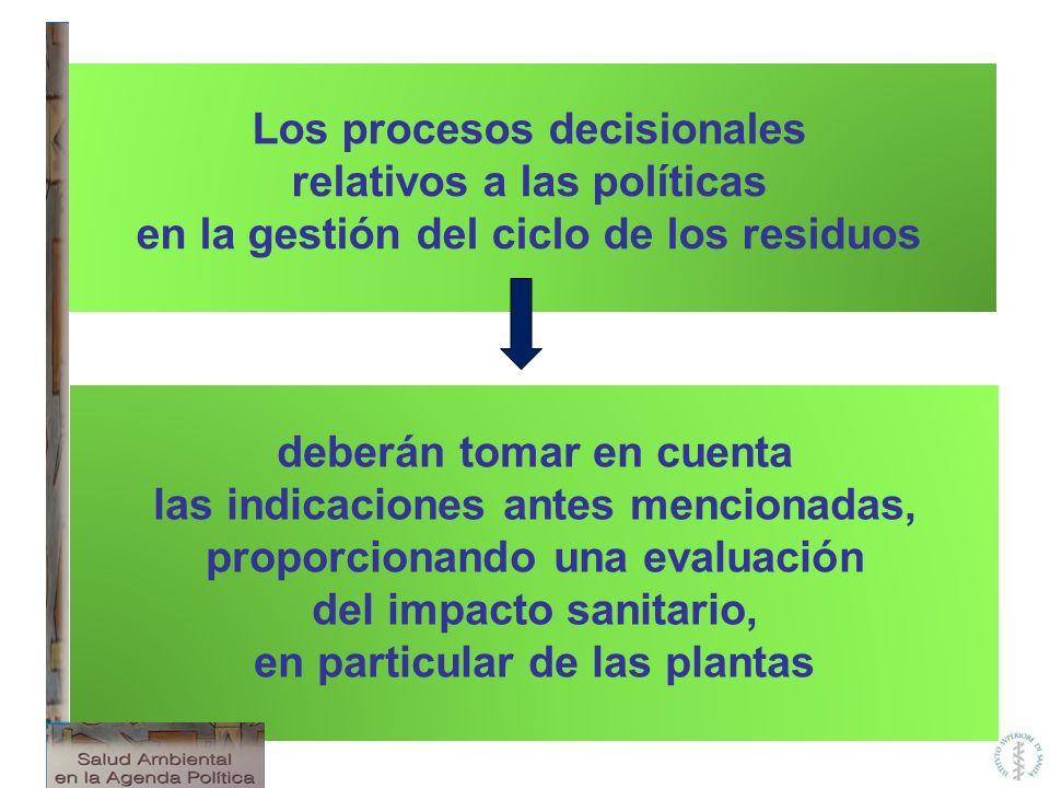 Los procesos decisionales relativos a las políticas