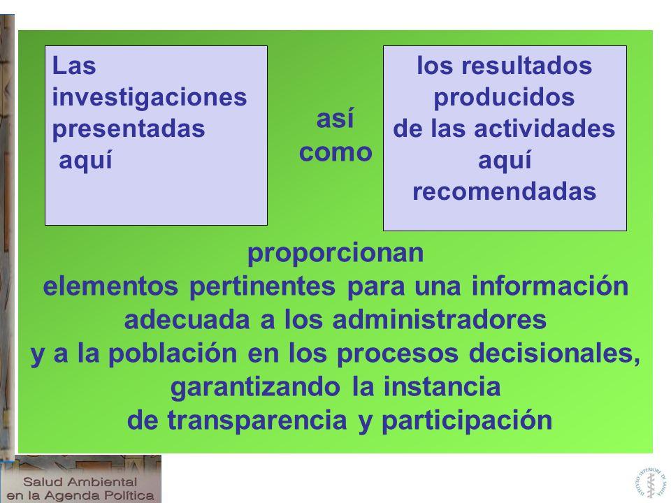 elementos pertinentes para una información