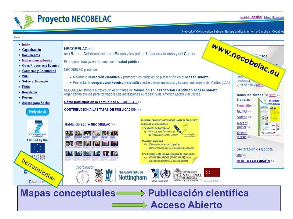 Mapas conceptuales Publicación científica Acceso Abierto