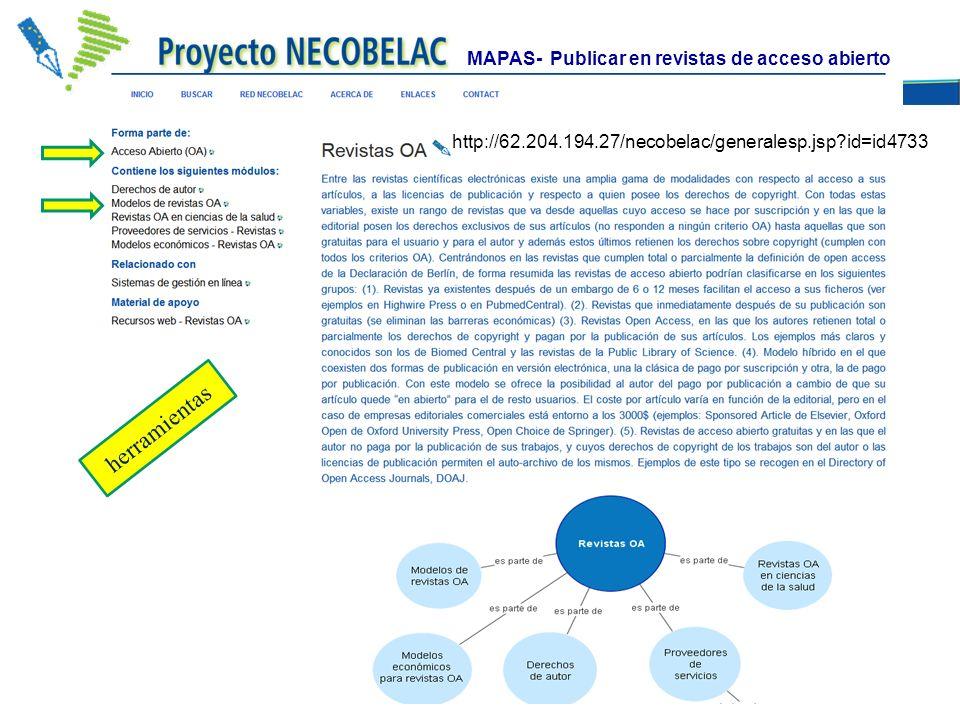 herramientas MAPAS- Publicar en revistas de acceso abierto