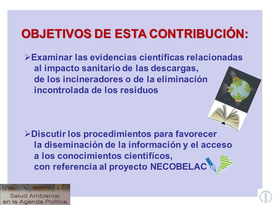 OBJETIVOS DE ESTA CONTRIBUCIÓN: