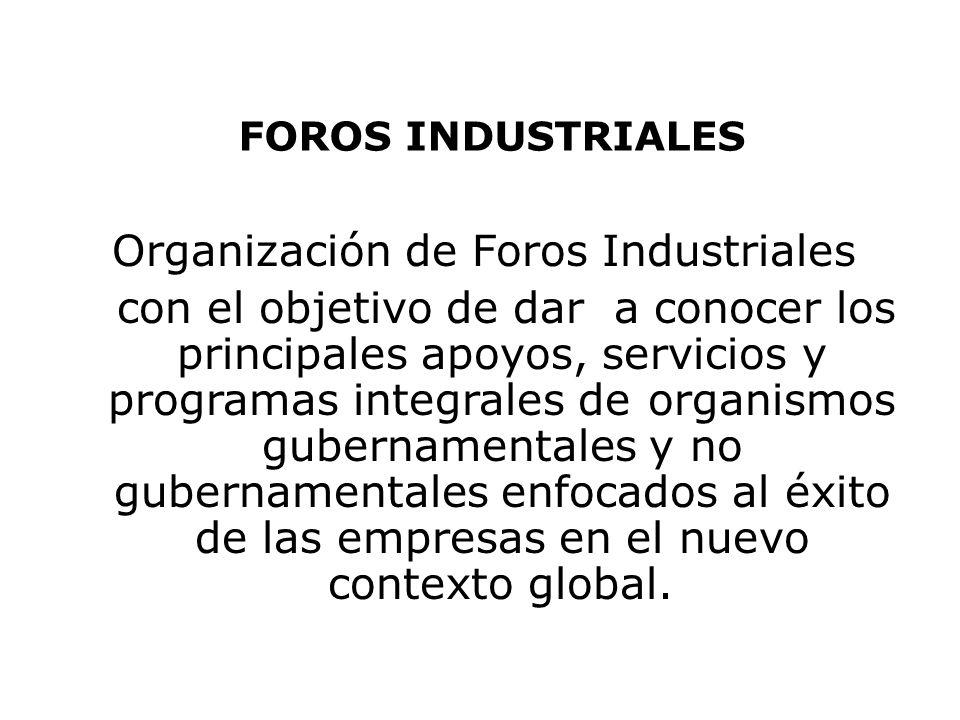 Organización de Foros Industriales