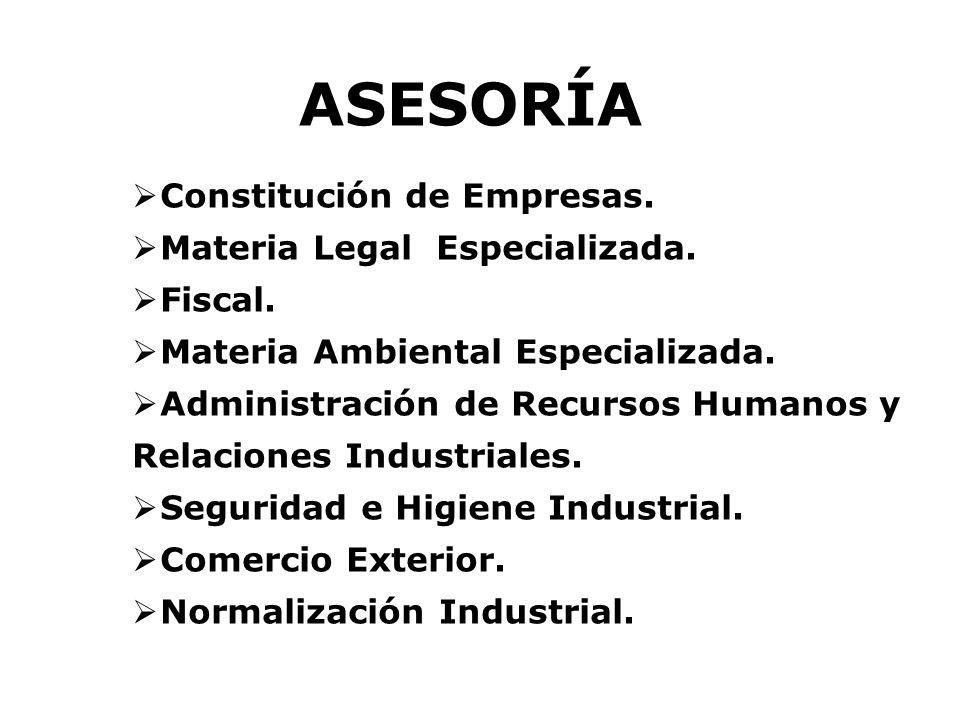 ASESORÍA Constitución de Empresas. Materia Legal Especializada.