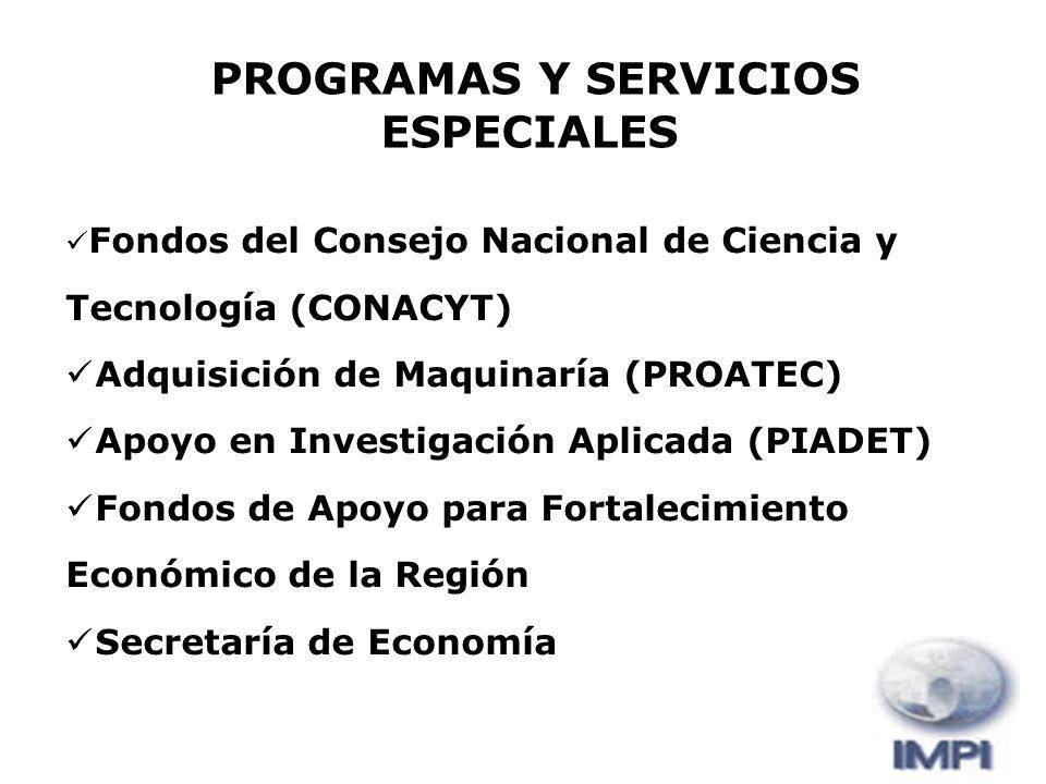 PROGRAMAS Y SERVICIOS ESPECIALES