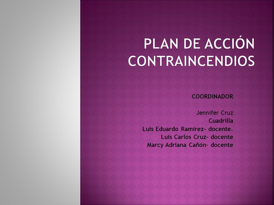 PLAN DE ACCIÓN CONTRAINCENDIOS