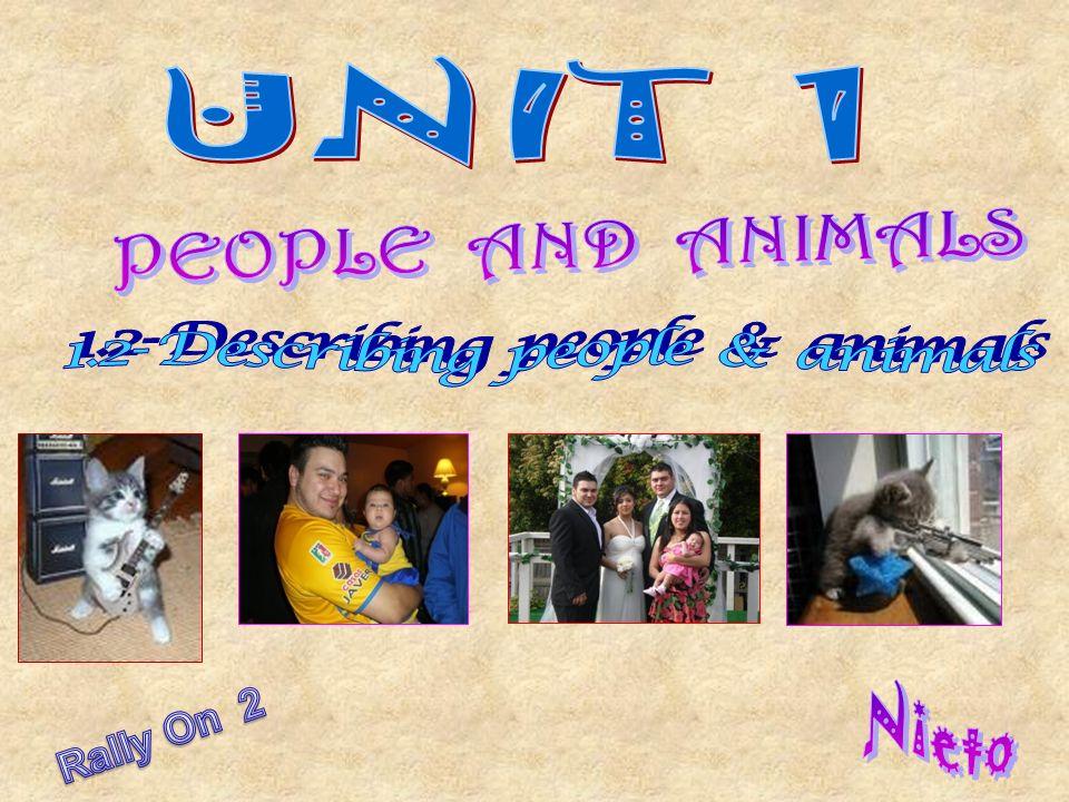 1.2- Describing people & animals