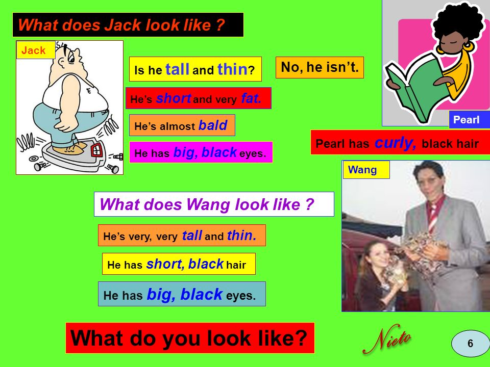 Nieto What do you look like What does Jack look like