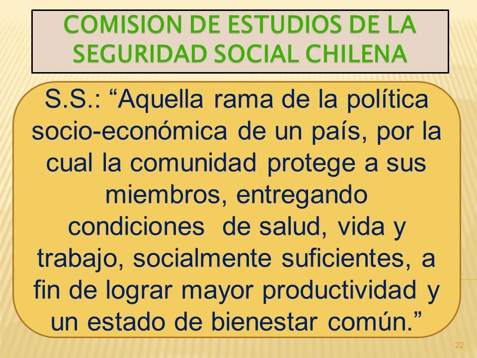 COMISION DE ESTUDIOS DE LA SEGURIDAD SOCIAL CHILENA