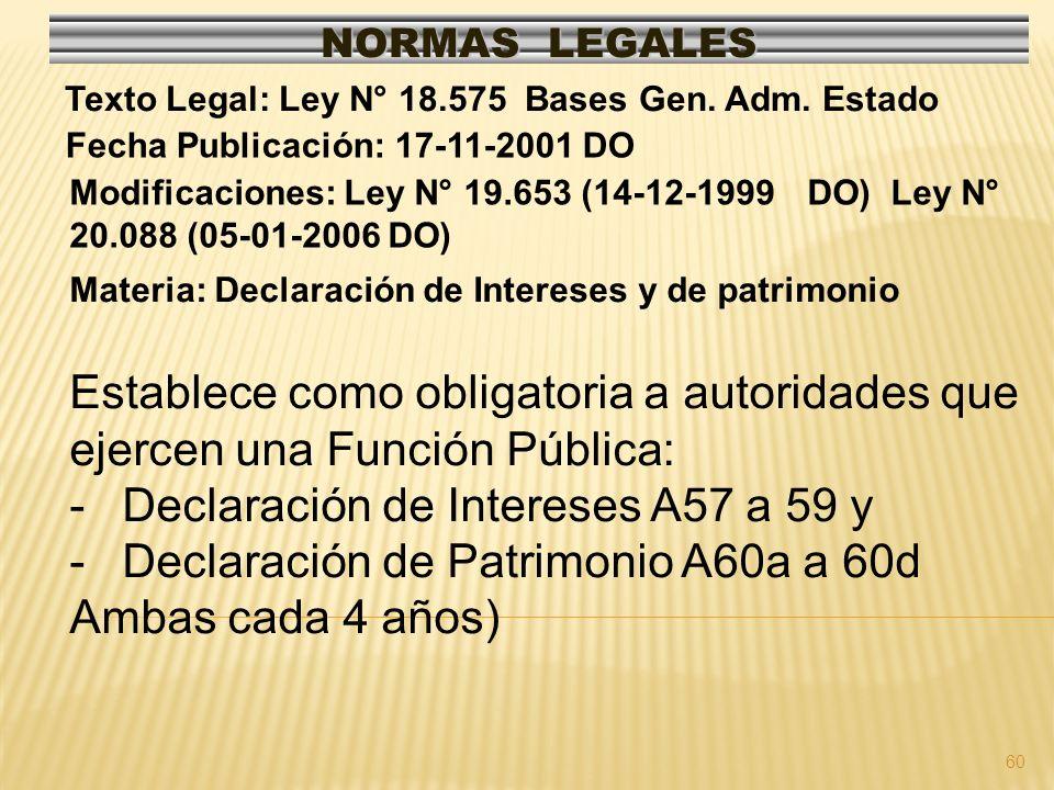 Declaración de Intereses A57 a 59 y