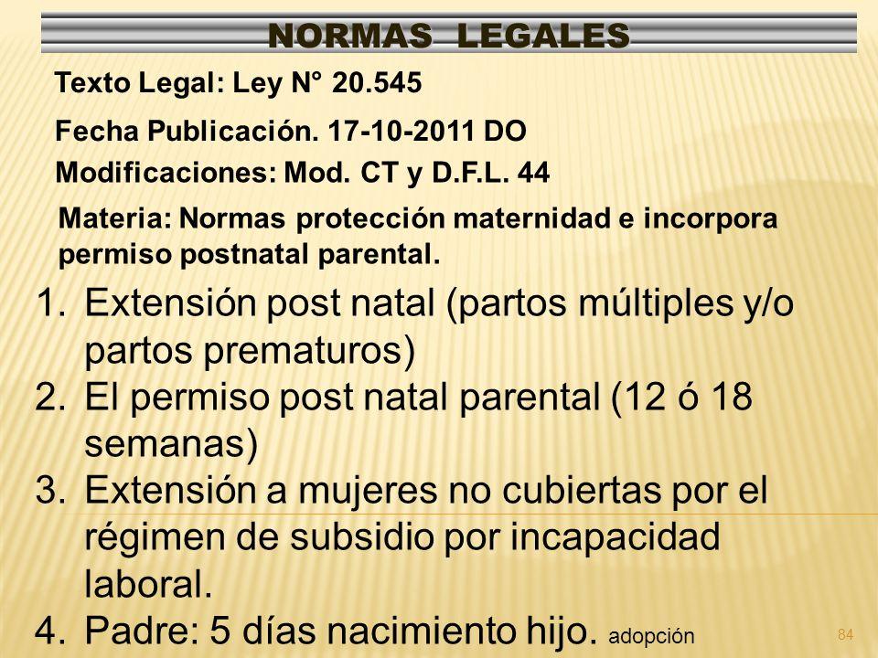 Extensión post natal (partos múltiples y/o partos prematuros)