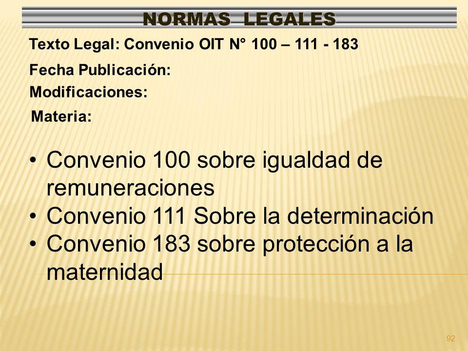 Convenio 100 sobre igualdad de remuneraciones