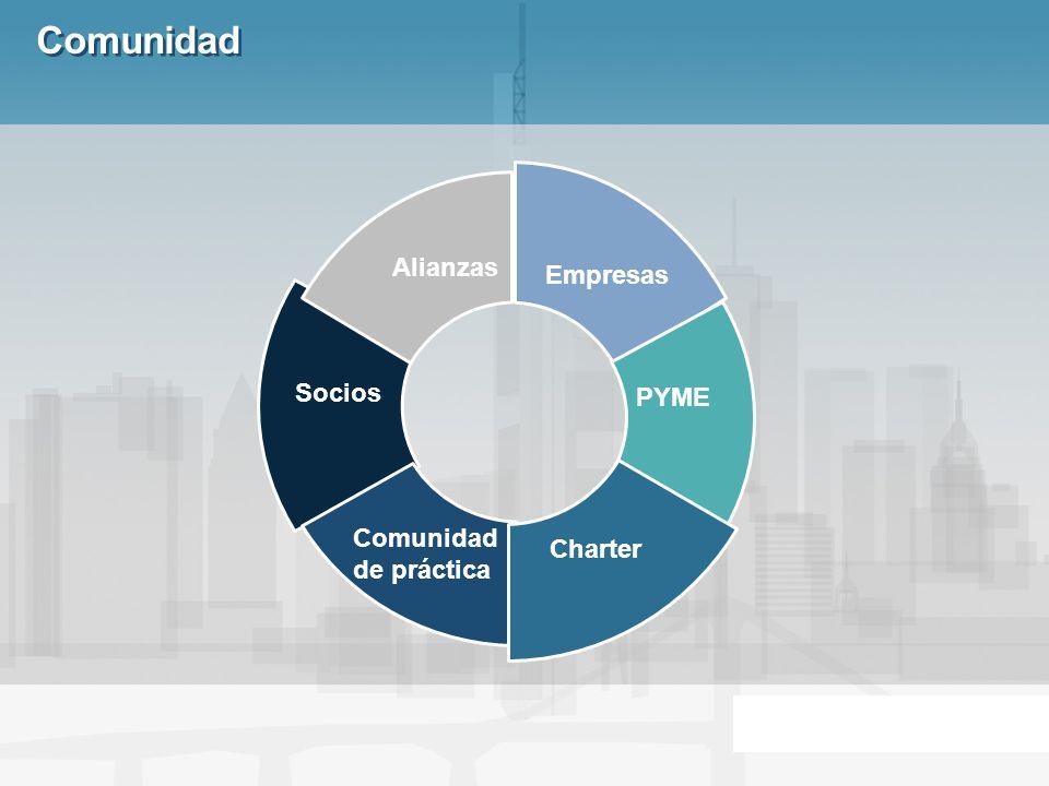 Comunidad Empresas Alianzas Socios PYME Comunidad de práctica Charter