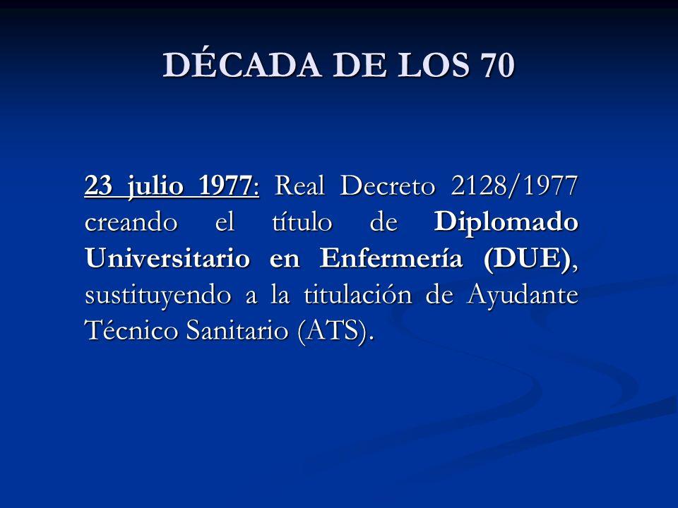 DÉCADA DE LOS 70