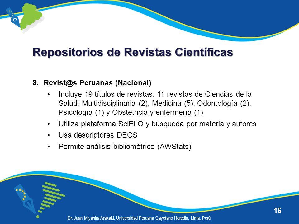 Repositorios de Revistas Científicas