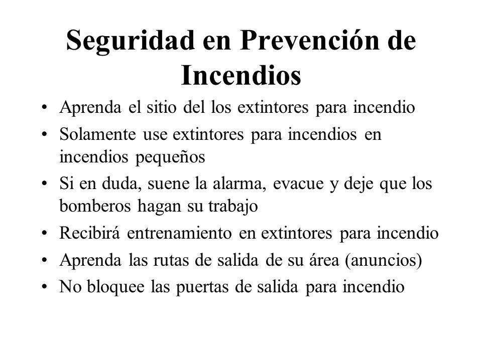Seguridad en Prevención de Incendios