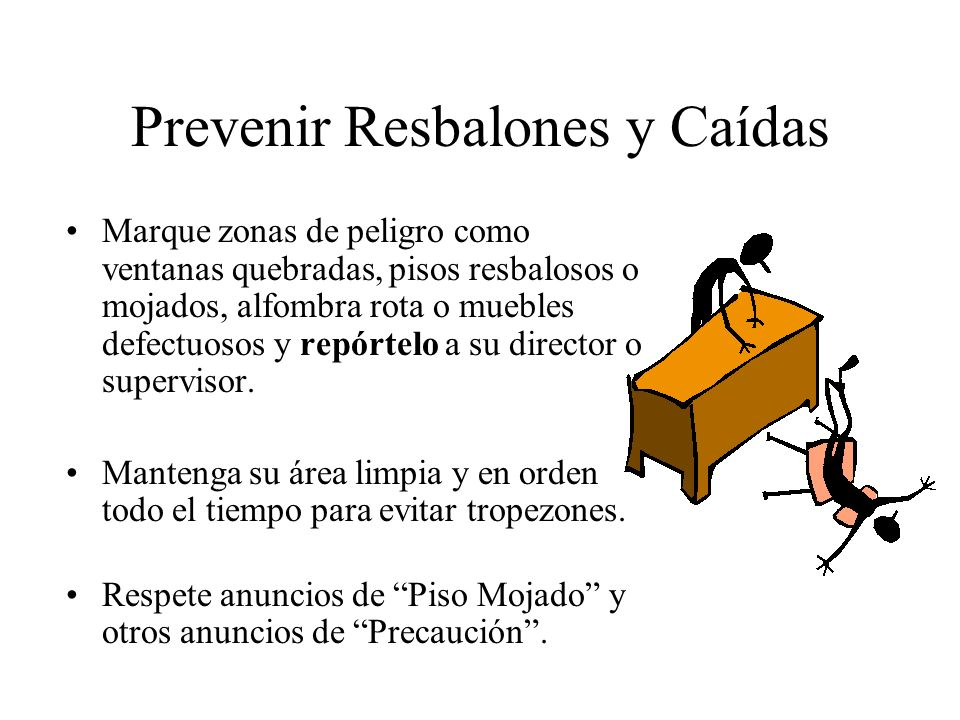 Prevenir Resbalones y Caídas