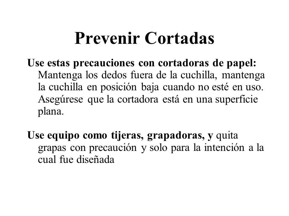 Prevenir Cortadas
