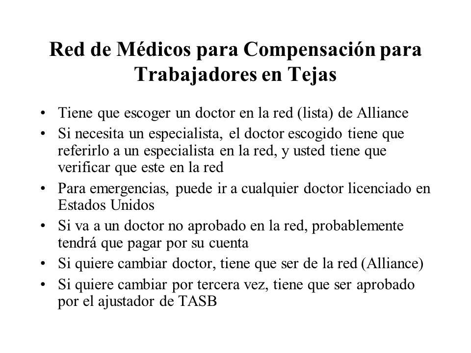 Red de Médicos para Compensación para Trabajadores en Tejas
