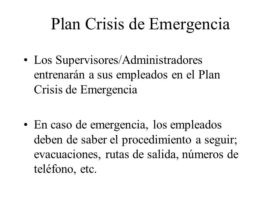 Plan Crisis de Emergencia