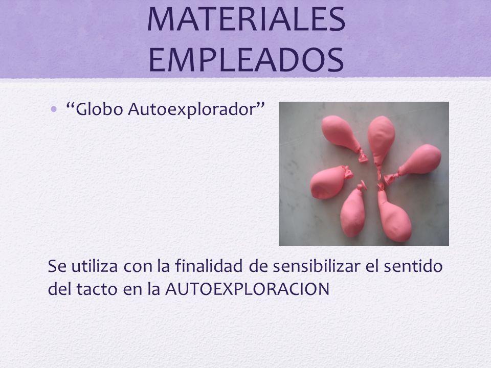 MATERIALES EMPLEADOS Globo Autoexplorador