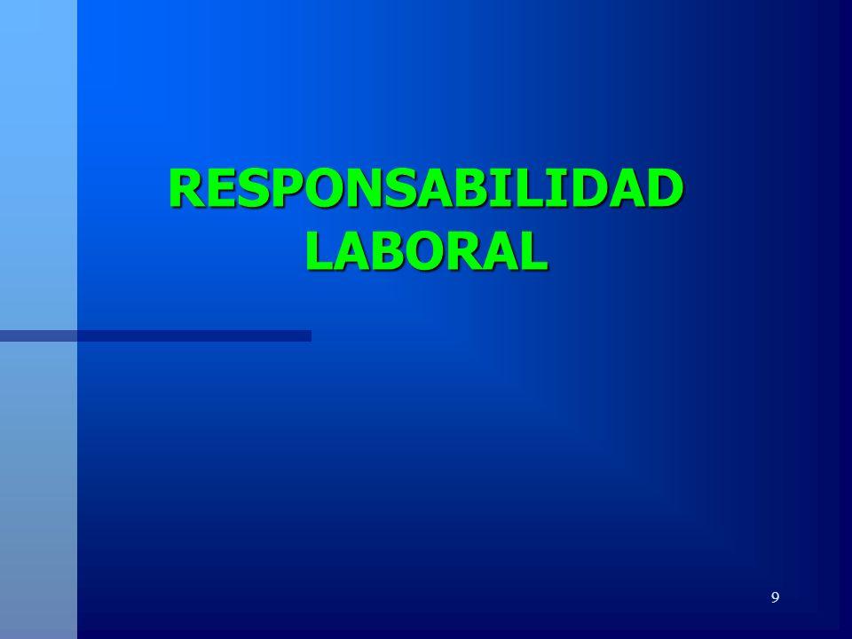 RESPONSABILIDAD LABORAL