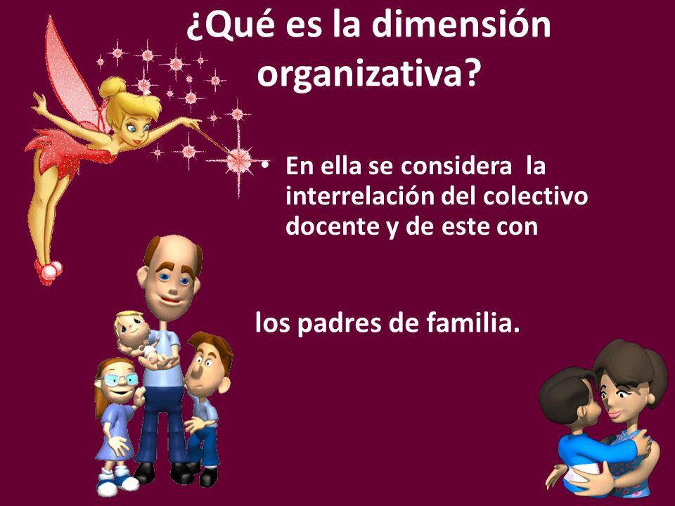 ¿Qué es la dimensión organizativa