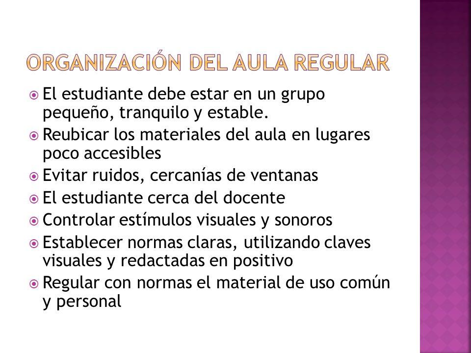 Organización del aula regular